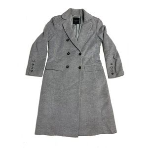 Talbots Women's Grey Wool Pea Coat Long Size 10